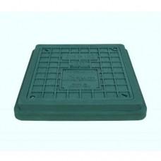 Люк полімерний 1,5т зелений (Розмір корпуса490х540мм Розмір кришки400х450мм)