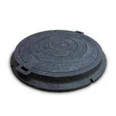 Люк дорожній чорний 12,5т (Ø 780 мм - обойма, Ø630 мм - кришка, висота 86мм )