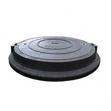 Люк дорожній чорний 8т (Ø 780 мм - обойма, Ø630 мм - кришка, висота 80мм )