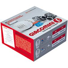 """Комплект Giacomini R470АX003 для підключення радіаторів, кутовий 1/2""""х16"""
