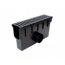 Дощоприймач з чавунною решіткою та кошиком для системи каналів 1000/148 клас навантаження B125 (12,5т) (Арт.01887)
