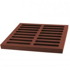 Решiтка дощоприймача коричнева системи 300х300 матеріал ПВХ, клас навантаження А15 (1,5т) (Арт.01776)