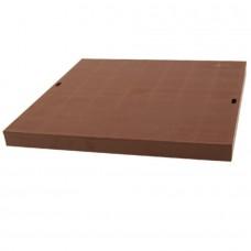 Кришка дощоприймача (пісковловлювача) коричнева системи 300х300 матеріал ПВХ, клас навантаження А15 (1,5т) (Арт.01781)