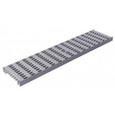 Решітка лотка водовідвідного сіра 0,5м ПВХ для системи каналів 1000/63/98/148 клас навантаження B125(12,5т) (Арт.4400)