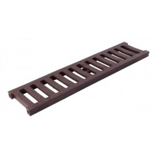 Решітка лотка водовідвідного коричнева 0,5м ПВХ для системи каналів 1000/63/98/148 клас навантаження А15(1,5т) (Арт.01706)