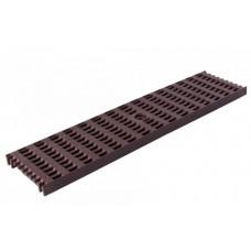 Решітка лотка водовідвідного коричнева 0,5м ПВХ для системи каналів 1000/63/98/148 клас навантаження B125(12,5т) (Арт.4401)