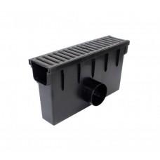 Дощоприймач з чавунною решіткою та кошиком для системи каналів 1000/98 клас навантаження B125 (12,5т) (Арт.01885)