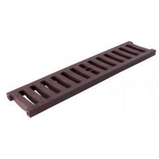 Решітка лотка водовідвідного коричнева 0,5м ПВХ для системи каналів 1000/63/98/148 клас навантаження B125(12,5т) (Арт.01711)