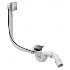Сифон ванна McAlpine автомат HС31SQ-CBS1 40/50 преміум квадрат хром