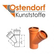 Трійник для зовнішньої каналізації 110х110х45 Ostendorf