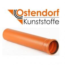 Труба каналізаційна 110х1000 мм ПВХ Ostendorf